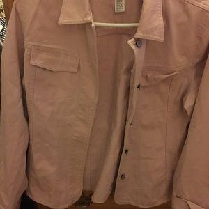 Jones Wear Pink Jean Jacket